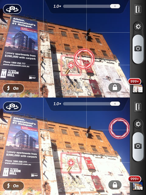 Camera+ has separate controls for focus and exposure